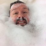 Ricky Gervais has taken bathtub selfies to a whole new level! (Photo: Instagram)