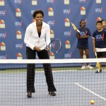 Because she stays fit. Michell Obama is known for taking good care of her body. Not only does she employ the diet and exercise practices, but she also encourages the rest of the nation to do, too! (Photo: WENN)