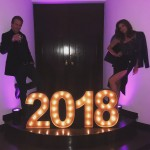Cindy Crawford and her husband welcoming 2018. (Photo: Instagram)
