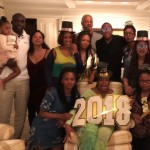Oprah Winfrey celebrating the new year with her family and friends. (Photo: Instagram)
