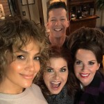 JLo revealed an upcoming special appearance in Will & Grace when she shared this picture with the cast over the weekend. (Photo: Instagram)