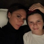 Victoria Beckham wrapped up a busy Saturday with a selfie next to her son Cruz. (Photo: Instagram)