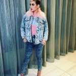 Katy Perry rocked a denim on denim outfit that received thousands of likes on Instagram. (Photo: Instagram)