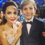 Jacob Tremblay continues to expand his photo collection alongside A-lister with this epic snap with Angelina Jolie at the 2018 Choice Awards. (Photo: Instagram)