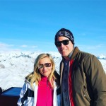 Reese Witherspoon posed for a sweet and snowy snap with husband Jim. (Photo: Instagram)