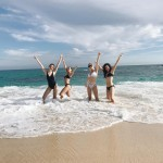 Selena Gomez and her girls, welcoming the new year in sunny Mexico. (Photo: Instagram)