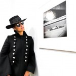 Alicia Key visited the Gordon Parks exhibit in an all-black ultra-chic outfit. (Photo: Instagram)