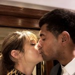 Woodley confirmed their romance by posting a picture on her Instagram Stories sharing a kiss with Volavola. (Photo: Instagram)