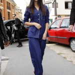 Selena Gomez stepped out in actual set of cotton pajamas while walking around on the streets of Paris. (Photo: WENN)