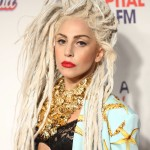 Lady Gaga wowing with bleached blonde dreads at the Capital FM Jingle Bell Ball 2013. (Photo: WENN)
