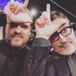 """David Harbour poked fun at the """"Stranger Things"""" loss with this photo of himself throwing up an """"L"""" at the Golden Globes. """"No caption,"""" he wrote. (Photo: Instagram)"""