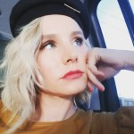 """Kristen Bell said of the time she saw a paparazzi picture of herself in a magazine: """"Who cares if there are lumps on my thighs? I'm guilty of having human legs made up of fat, muscle and skin, and sometimes when you sit, they get bumpy!"""" (Photo: Instagram)"""