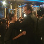 They may not have won last night, but this father/daughter photo of David Harbour and Millie Bobby Brown won our heart. (Photo: Instagram)
