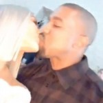 Kim and Kanye received 2018 sharing a kiss. (Photo: Instagram)