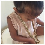 Because daddy will let her wear his expensive jewelry… (Photo: Instagram)