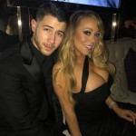 Mariah Carey shared this picture with nominee Nick Jonas from at the Golden Globes 2018 after party. (Photo: Instagram)