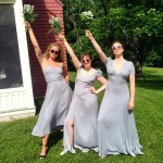 """""""Girls"""" star Lena Dunham played the part of jubilant, supportive friend at her pal Isabel Halley's wedding last June. (Photo: Instagram)"""