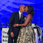 Because she and Obama are relationship goals. They've been married for 25 years and it's obvious that they're still pretty much in love! (Photo: WENN)