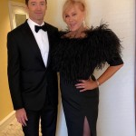"""Hugh Jackman and Deborra-lee Furness snapped a quick pic before they headed off to the big show. """"Off to the @goldenglobes ... with my @Deborra_lee"""" (Photo: Instagram)"""