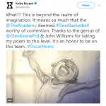 """Kobe Bryant's """"Dear Basketball"""" is nominated for best animated short film and the former NBA star called the nod """"beyond the realm of imagination."""" (Photo: Twitter)"""