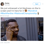 A lot of blackness is always a good thing. (Photo: Twitter)