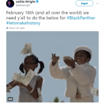 Black Panther will make history! (Photo: Twitter)