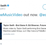 On Friday midnight, Taylor Swift broke the internet with the release of the End Game music video. (Photo: Twitter)