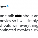 Even though Chrissy Teigen has nothing to do with this year's Oscar Nominees, the Queen of Twitter couldn't help but share her thoughts on the matter. (Photo: Twitter)