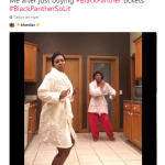 Happy dance in honor of our Black Panther tickets. (Photo: Twitter)