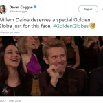 This candid Willem Dafoe moment was priceless. (Photo: Twitter)