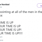 All YOUR TIME IS UP! (Photo: Twitter)