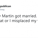 The news can't true—since he's already married to me. He doesn't know. But he is. (Photo: Twitter)