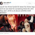 2018 IS ALL ABOUT BODY POSITIVY—including extra limbs. (Photo: Twitter)