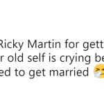 We were supposed to get married, Ricky. What's up with that? (Photo: Twitter)