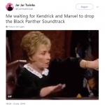 GIMME THAT BLACK PANTHER SOUND ASAP! (Photo: Twitter)