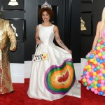 Another year, another addition to the list of the worst dressed celebrities in the history of the Grammys. (Photo: WENN)