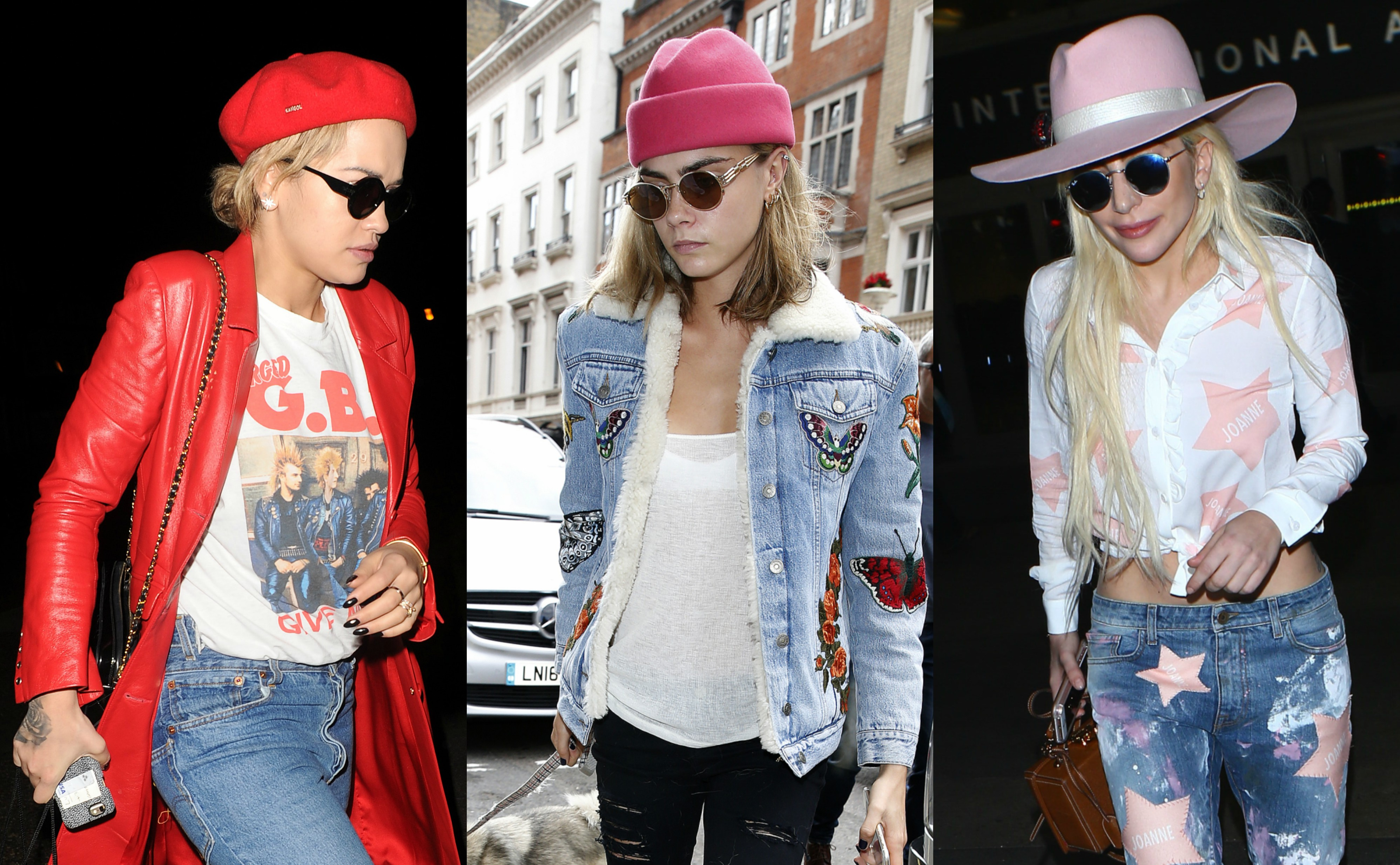 From the Hadid sisters, to Lady Gaga, to Jane Fonda, here are 15 celebrities that sure love a good hat. (Photos: WENN)