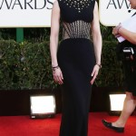 Nicole Kidman looked elegant as ever in a Alexander McQueen gown for the 2013 Golden Globes Awards red carpet. (Photo: WENN)