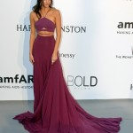 Kendall Jenner stunned in a two-pieces Calvin Klein purple dress at the AmfAR Cinema gala in Cannes in 2015. (Photo: WENN)
