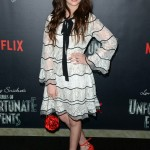 Malina Weissman— She's best known for her roles as young April O'Neil in Teenage Mutant Ninja Turtles, young Kara Zor-El in Supergirl, and Violet Baudelaire in the Netflix series A Series of Unfortunate Events. (Photo: WENN)