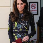 Kate stepped out in a funky Erdem dress covered in multi colored embroidered bright flowers at a charity event held at London's Institute of Contemporary Art. (Photo: WENN)