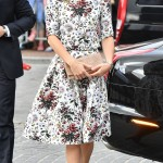 Kate stepped out wearing a two-piece ensemble from Erdem that boasted a pretty all over floral print during her visit at the Gdansk's Shakespeare Theater. (Photo: WENN)