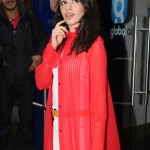 Camila Cabello looked her cutest as she left Capital Radio wearing a long see-through red blouse paired with a camel beret. (Photo: WENN)
