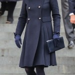 Kate joined Prince William and Prince William at the Grendfell Tower Naitonal Memorial Servie in a navy Carolina Herrera coat and matching hat. (Photo: WENN)