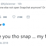 Despite the controversy, Snapchat still has a special place in Kylie's heart. (Photo: Twitter)