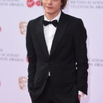 Charlie Heaton stepped out in style and looked dapper at the 2017 TV BAFTAs in a slim fitting black suit and bowtie. (Photo: WENN)