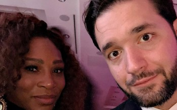 Alexis Ohanian Cheers On Serena Williams With Four Billboards Outside Palms Springs, California