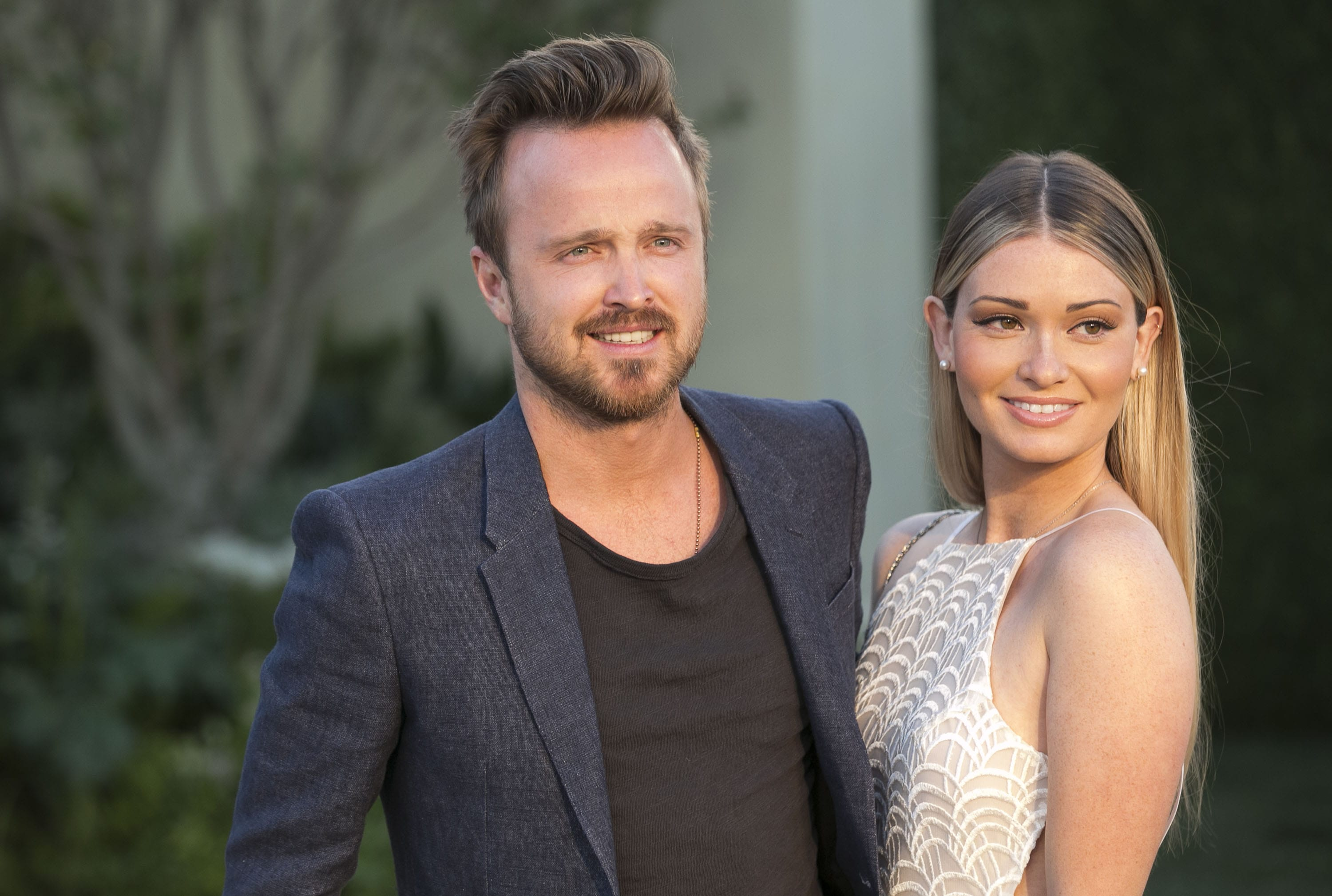 Aaron Paul and his wife Lauren Parsekian welcomed a beautiful baby girl. (Photo: WENN)