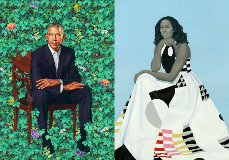 People are having a field day with it (pun intended). Check some of the funniest reactions to the Obama's official portraits in our photo gallery above. (Photo: Twitter)