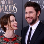 "Emily Blunt contemplating the candy man that is her husband John Krasinski at the ""Into the Woods"" premiere. (Photo: WENN)"